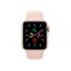 Смарт-часы  Apple Watch Series 5 GPS, 40mm Gold Aluminium Case with Pink Sand Sport Band (MWV72GK/A)