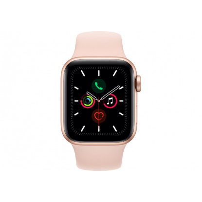 Смарт-годинник Apple Watch Series 5 GPS, 40mm Gold Aluminium Case with Pink Sand Sport Band (MWV72GK/A)