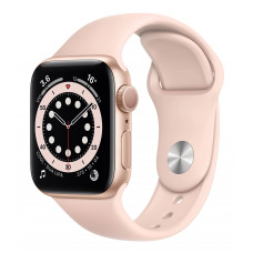 Apple Watch Series 6 44mm GPS Gold Aluminum Case with Pink Sand Sport Band (M00E3)