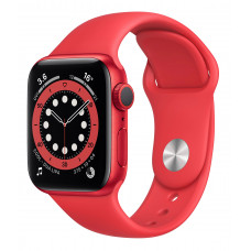 Apple Watch Series 6 44mm GPS Red Aluminum Case with (PRODUCT)RED Sport Band (M00M3)