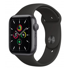 Apple Watch Series 6 44mm GPS Space Gray Aluminum Case with Black Sport Band (M00H3)