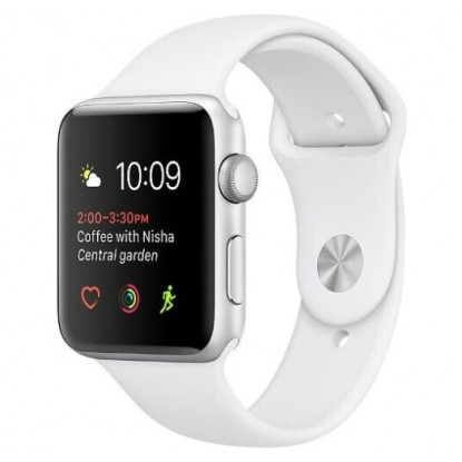 Apple Watch Series 2 42mm Silver Aluminum Case with White Sport Band (З пробігом)